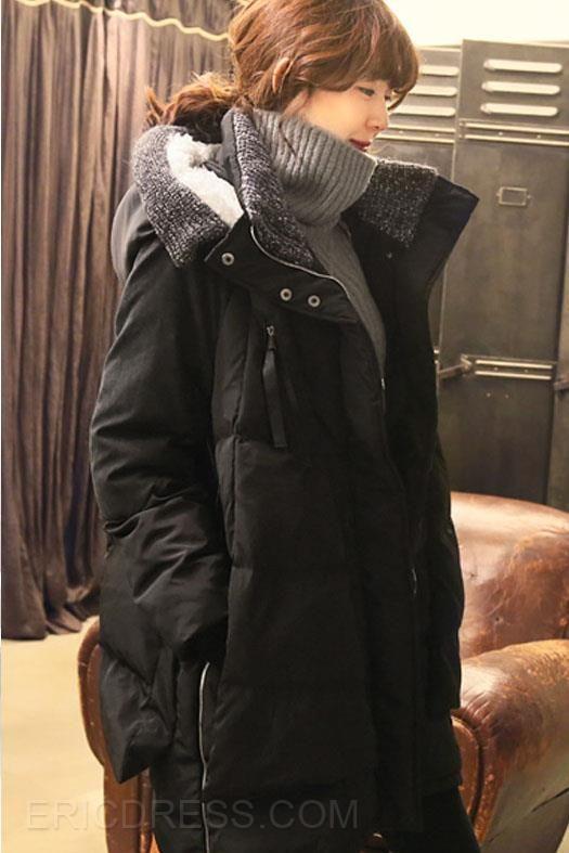 Girls Hooded Long Sections Military Coats Coats