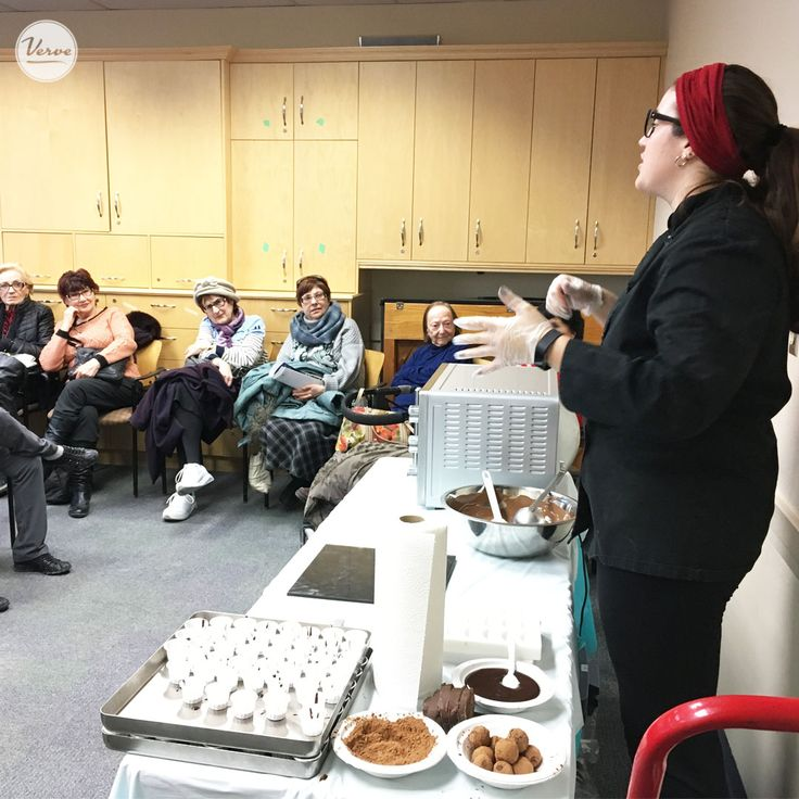 Four Elms Seniors went to the Bernard Betel Centre enjoyed a fun filled afternoon, of a screening of Chocolat, sponsored by Four Elms Retirement Residence, along with a tasting about chocolate.