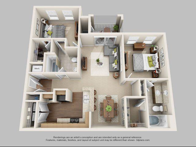Latitude The Commons Rentals Myrtle Beach Sc Apartments Com Sims House Design Apartment Layout House Layout Plans