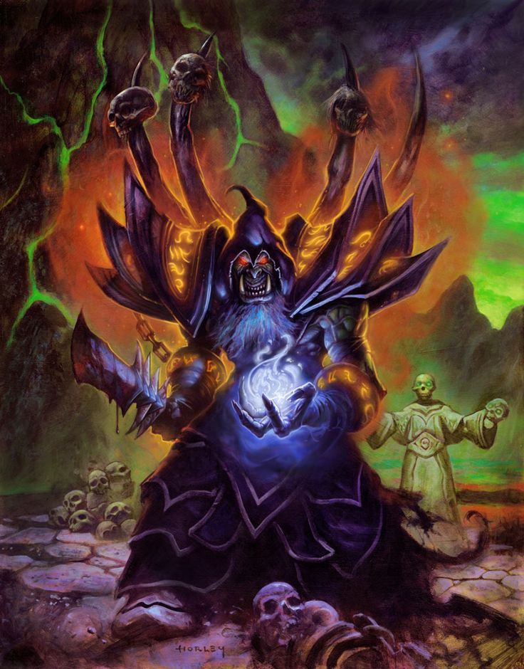 Gul'dan - Hearthstone: Heroes of Warcraft - I have two warlock decks in my rotation,  both with a pretty high win rate ;)