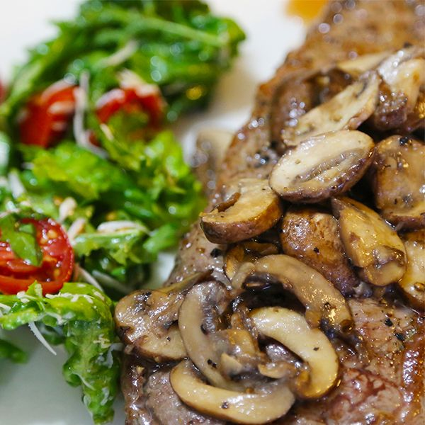 This is a delicious seared steak with mushroom sauce that you can do ...