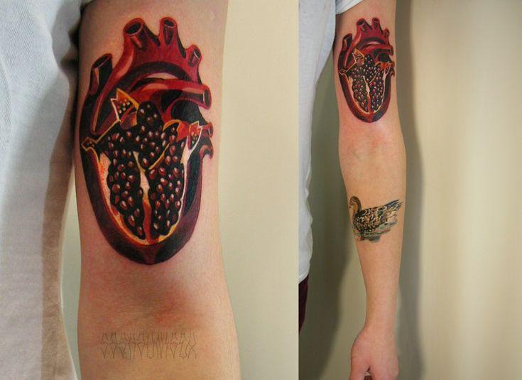 sasha unisex pomegranate heart tattoos pinterest a r pomegranates and chang 39 e 3. Black Bedroom Furniture Sets. Home Design Ideas