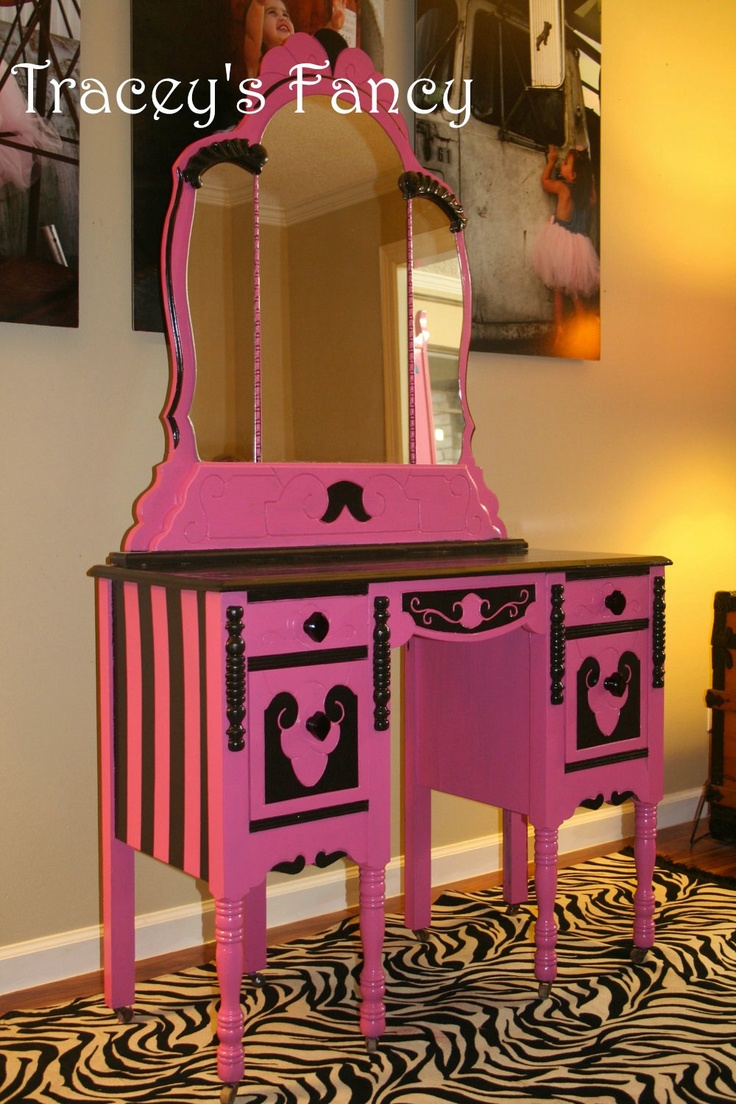 I've been wanting to paint my vanity hot pink....