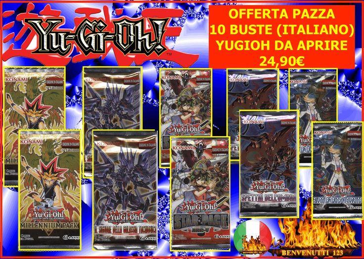10 BUSTE CHIUSE YUGIOH  24,90€ , 2 BUSTE PILOTI AD ALTA VELOCITA  + 8 BUSTE