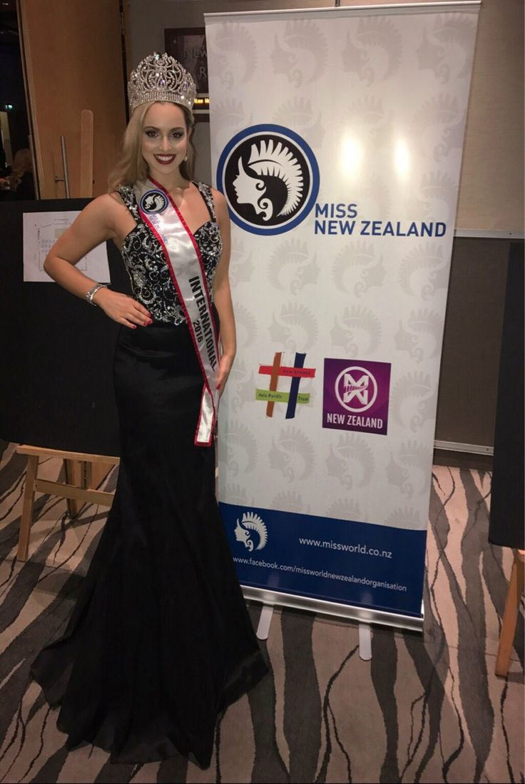 Miss World New Zealand 2017 Pageant. Jessica Tyson (Miss International NZ 2016) hands over her crown to the new winner. Looking stunning in  BG30010 from Bridal and Ball NZ. You have done a great job representing NZ - well done Jess!