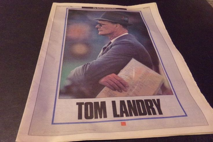 Vintage Dallas Morning News Tom Landry Last Year as Head Coach Dallas Cowboys 89