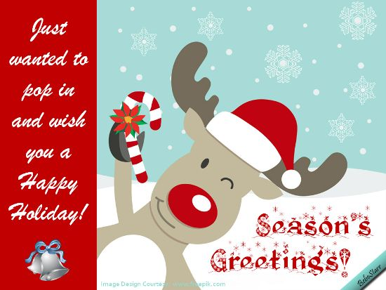 42 best christmas and new years ecards images on pinterest e cards cute reindeer pops in to wish a happy holiday free online just popping in ecards on christmas m4hsunfo