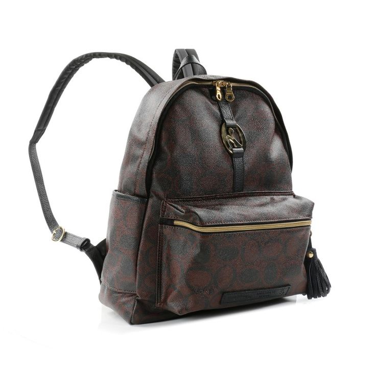 #OROBIANCO #GOLDPACK L #Backpack – WEB EXCLUSIVE!!!  Materials: #Italian pvc canvas, Italian nylon (straps), #leather tanned in #Italy. Sizes: 36 x 24 x 12. Each Orobianco bag is entirely MADE IN ITALY with thorough care for details, respect for handicraft traditions and skillful use of technology so as to ensure that the final product is unique and excellent. Colors: Orobianco Logo #brown and black. #Black leather.