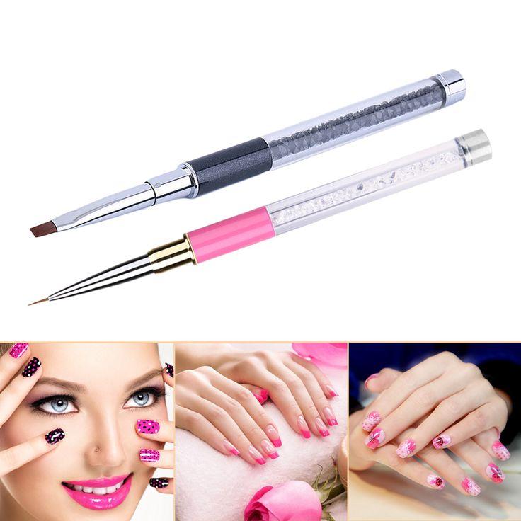 Nail Art Pen Pearl GEL Acrylic Nail Art Crystal Design Dotting Painting Pen Polish Brush Set 3D Art Manicure GUB#