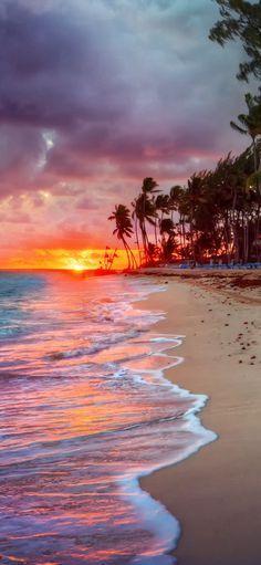 Stunning sunset view of Puert Rico