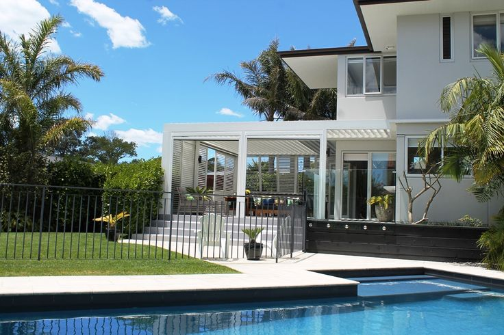 Louvretec Opening Roof, Sliders and shutters used to create the ultimate Outdoor room