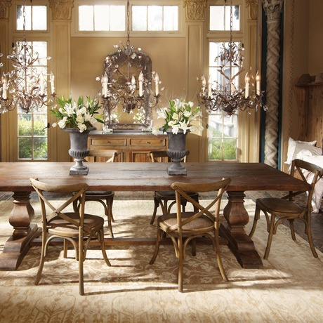 Kensington Large Dining Table - this is great! Country mixed with modern! Perfect!