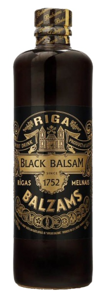 Riga Black Balsam. Delicious mixed with black currant juice.