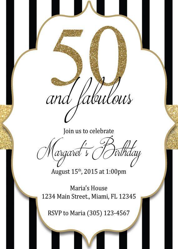 Best 20 50th birthday invitations ideas on Pinterest