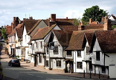 """Lavenham: """"A picture-perfect Tudor wool town in south Suffolk, Lavenham has a wide choice of atmospheric and quite luxurious accommodation as well as easy access to the Stour Valley and central Suffolk."""" Suffolk; the Bradt Guide; www.bradtguides.com"""