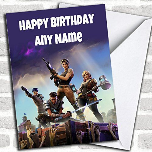 Personalised Fortnite Game Children S Birthday Card Best
