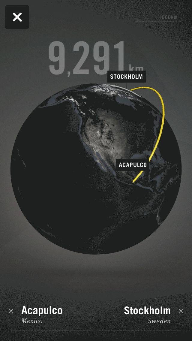 Mobile App Distance Tool with 3D Interactive Globe | Mobile User Interface Design #UI
