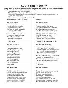 how to start a poem recitation