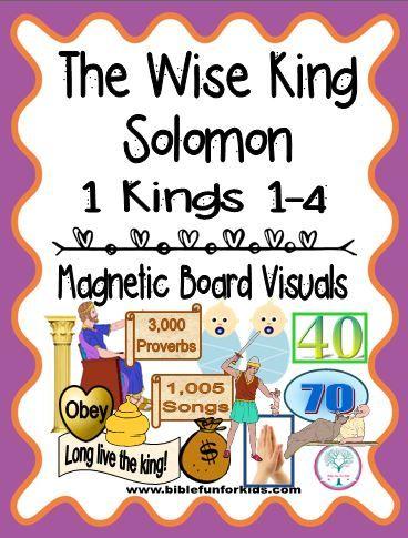 Bible Fun For Kids: Cathy's Corner: The Wise King Solomon