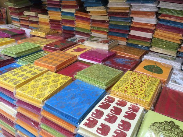 Stock up on some handmade paper at Khan market.