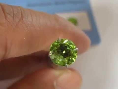 Batu Peridot Round Cut Kualitas Bagus 1.89 carat