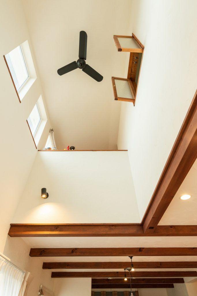 マイホームの夢を叶えた イメージ通りの家 室内窓 吹き抜け窓