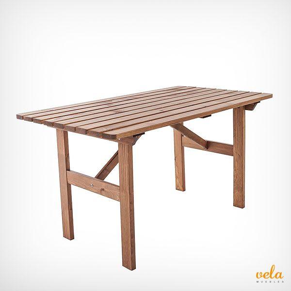 Mesa de jardín de madera super-económica. No te la pierdas y echa un vistazo al precio