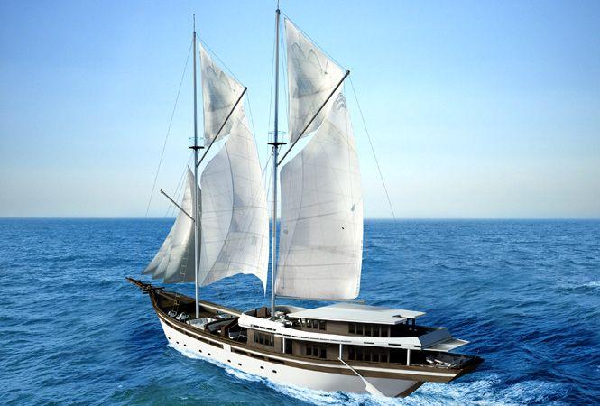 New Phinisi-Inspired Luxury Yacht 'Zen'