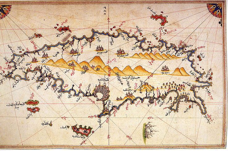 Map of Crete by Piri Reis - a later time than Tobias, but inspiration nevertheless.