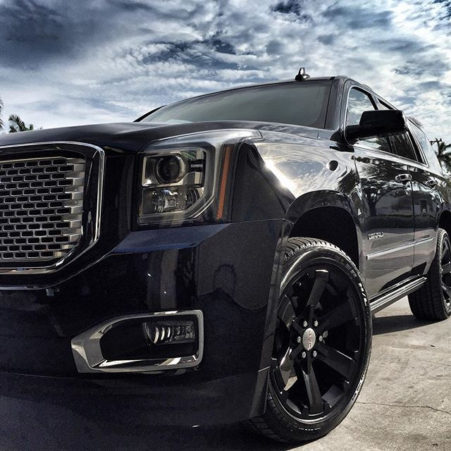 #mulpix A new day dawns. Say hello to the newest member of the  #PunisherLife fleet. The GMC Yukon Denali. -  #punisherdenali  #trucklife  #miamibeach  #yukondenali  #gmc  #yukon  #denali  #suv  #gm  #chevrolet  #cadillac  #yukon  #chevy  #tahoe  #ss  #escalade  #cadi  #dub  #supercharged  #tuning  #performance  #chevytahoe  #z71  #gmcyukon  #gmcdenali
