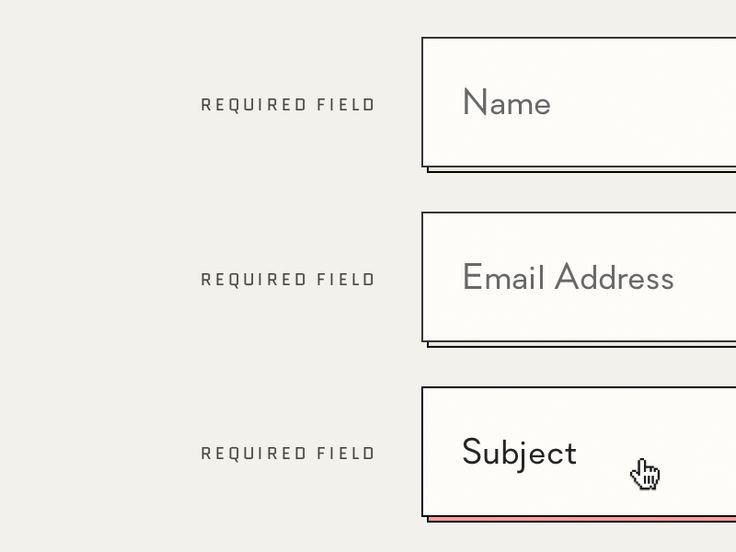 UI Contact Form by Ines Gamler