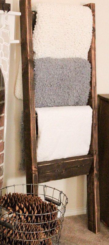 Rustic Blanket Ladder on Etsy, $35.00