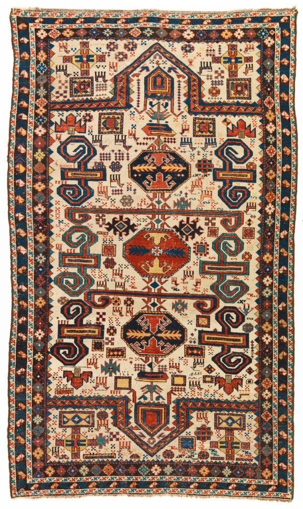 Perepedil double-ended prayer rug, Caucasus, last quarter 19th century. Christopher Emmet collection ×