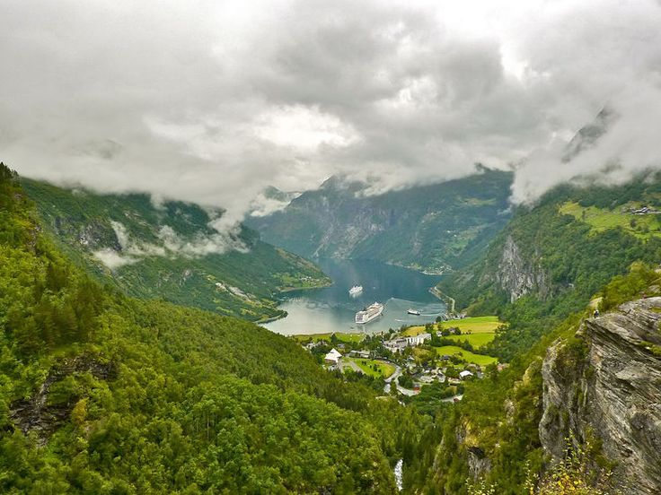 Geiranger, Norway - Seven sisters waterfall and other points of interest