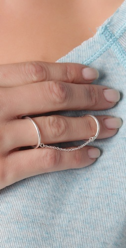 : Simple Silver Rings, Wire Rings, Jewelry Inspiration, Chains Rings, Chain Rings, Rings Style, Silver Rings Jewelry, Jewelry Ideas, Double Rings
