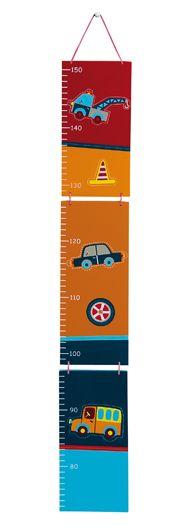 Nino & Ideas Groeimeetlat garage - Speciaal voor stoere jongens die willen weten hoe lang ze zijn. Afmetingen: 81 x 12 x 1 cm