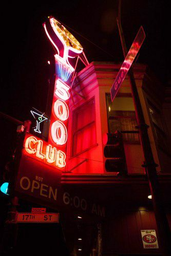 The Ultimate Nightlife Guide To S.F. —  Party Time! #refinery29  http://www.refinery29.com/san-francisco-nightlife#slide3  If You're Looking To: Get Down And Dirty In A Dive Bar   500 Club  Whether you're looking to let off steam or completely lose your integrity, the 500 is the place to do it. One of the oldest neighborhood bars in the Mission, this place is crawling with eclectic folks, all interested in just one thing — having a damn good time. With ultra-cheap drinks, booths to get cozy…