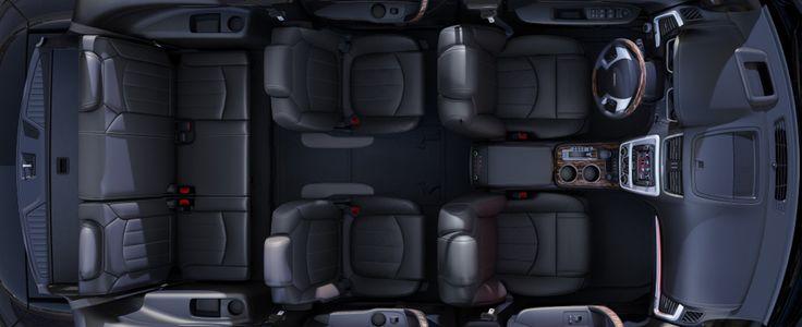 2014 GMC Acadia Denali in Ebony comfortably seats up to eight passengers.