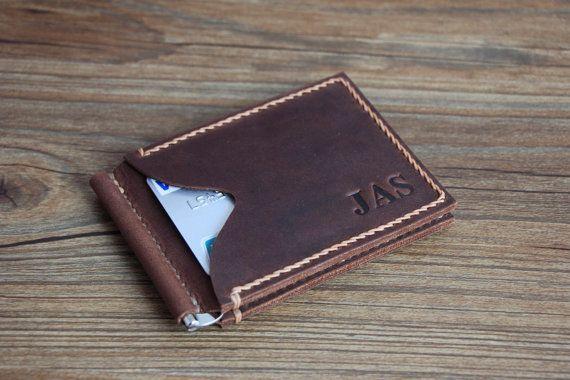 Money Clip Wallet Voted Best Leather Wallet por RockyLeatherDesign