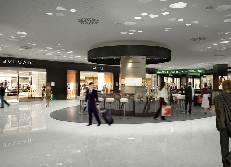 The restyling of Malpensa Airport for #Expo2015 - the the square of luxury in the commercial gallery