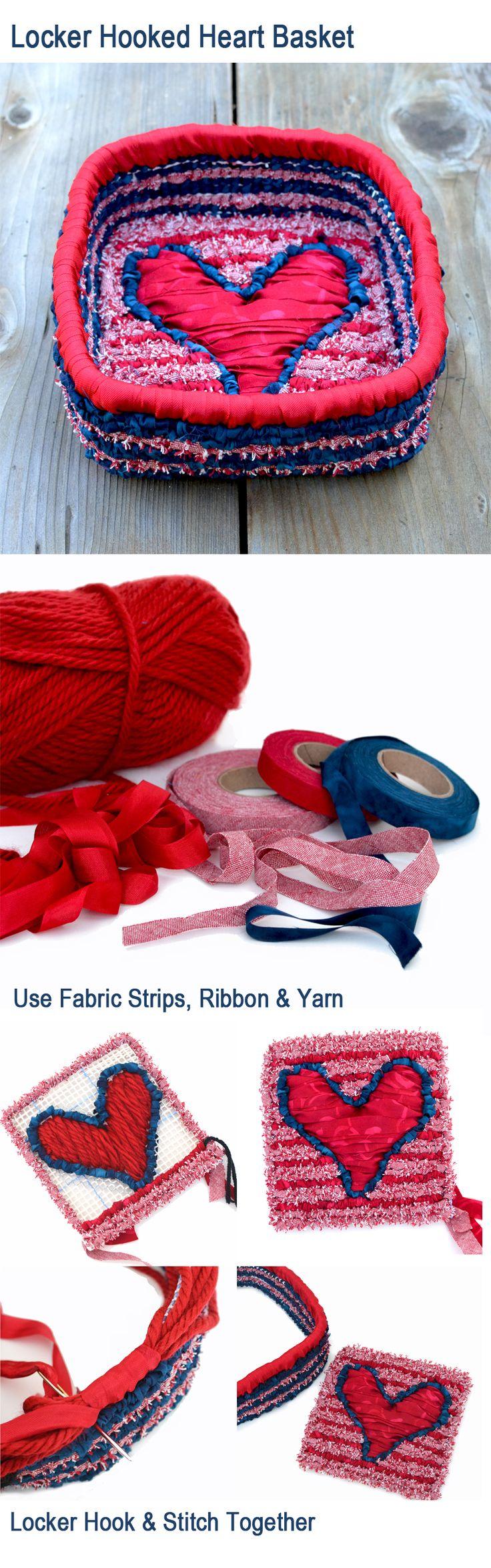 Locker Hooked Heart Trinkets Basket - Free Pattern from Color Crazy - colorcrazy.com