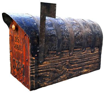 Rustic Mailbox With Cedar Door - rustic - Mailboxes - Austin - Valter fon Eynik