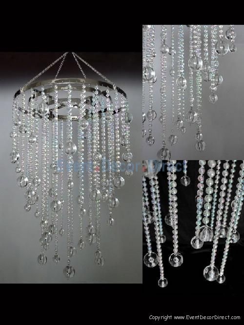 Chandeliers small crystal acrylic drop chandelier for Plastic chandeliers for parties