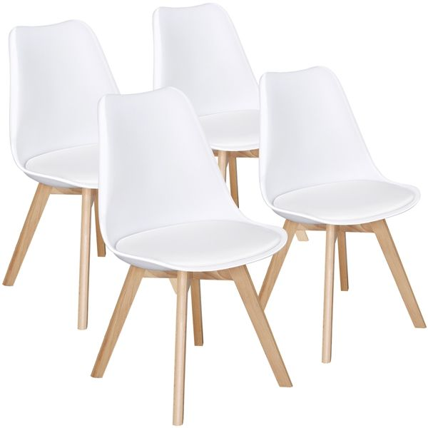 Free 2 Day Shipping Buy Smilemart Mid Century Modern Padded Dining Chairs Set Of 4 At Walm Midcentury Modern Dining Chairs Modern Dining Chairs Dining Chairs