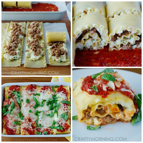 3 cheese lasagna roll ups
