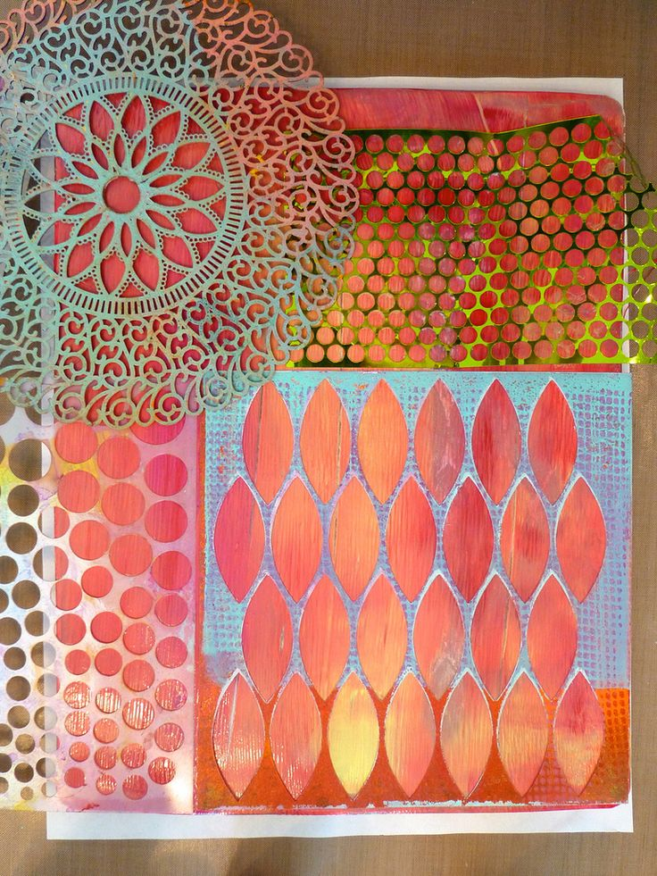 Made by Nicole: Gelli Plate Monoprints