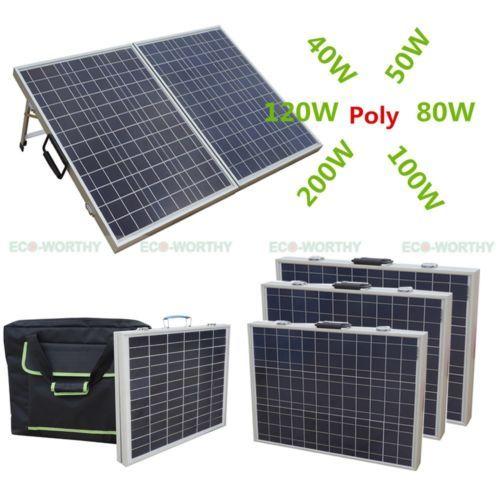 80W-100W-120W-Portable-Folding-Solarmodul-Photovoltaik-Solarpanel-12V-Yacht-Cars