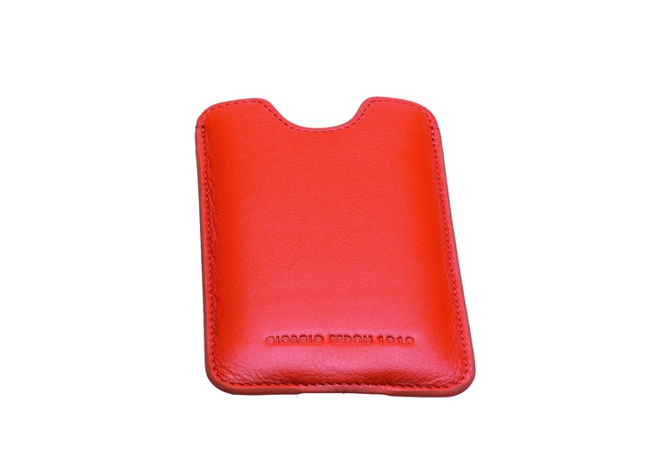Iphone 4G orange Nappa leather soft case - GIORGIO FEDON 1919 Wallets - Boston & Boston by BRAND