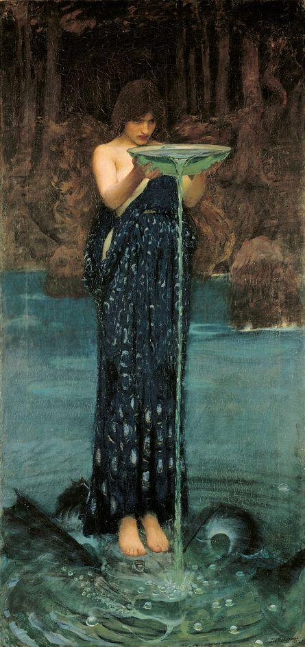 J.W. Waterhouse: The Modern Pre-Raphaelite - John William Waterhouse - Circe Invidiosa: Circe Poisoning the Sea, 1892 from http://LondonTown.com