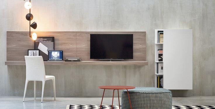 L-shaped Desk, Elle   The combinations of accessories and feature units create a unique, original solutions. Design by #Novamobili. #home #decor #livingroom #italian #style #design #table #interiors #architettura #interni #arredo #materiali #furniture